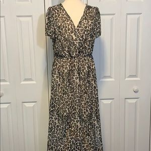 NWT Bailey Blue leopard print maxi dress